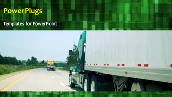 PowerPoint Template - Transportation background